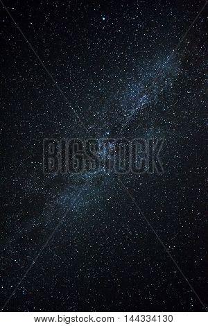 Milky Way Galaxy, Long Exposure Photography, Beautiful Night Sky. Night Sky With Lot Of Shiny Stars.
