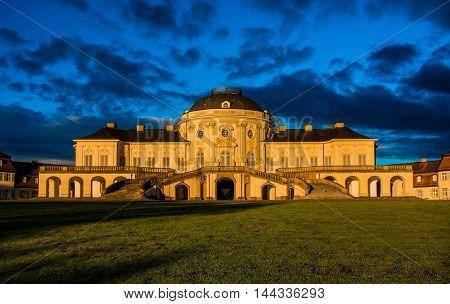 Blue Sky Panorama Exterior Solitude Schloss Castle Stuttgart Germany