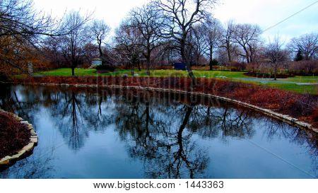 Graceland Cemetary Lake