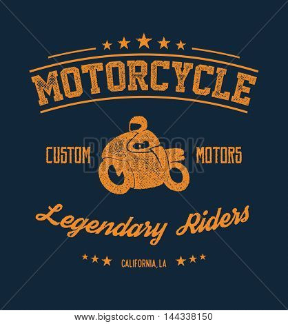 Vintage Road king t-shirt graphic with biker. Design of the vector typographic of t-shirts and for other uses. Vector illustration.