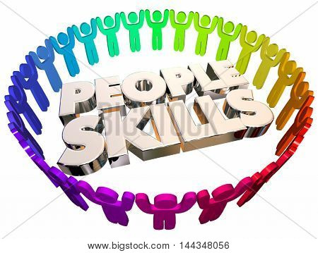 People Skills Communication Listening Words 3d Illustration