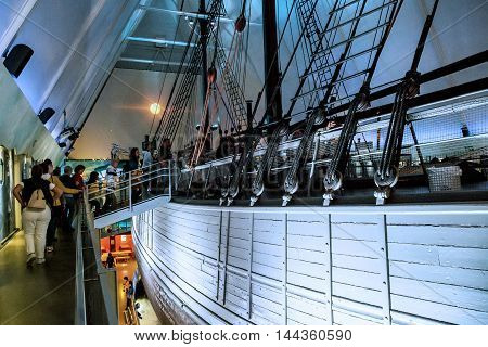 OSLO, NORWAY - JULY 1, 2016: This is visit on the ship-museum