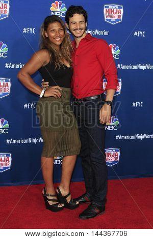 LOS ANGELES - AUG 24:  Meagan Martin, David Flip Rodriguez at the