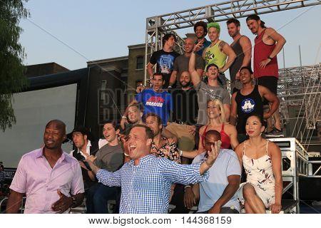LOS ANGELES - AUG 24:  Akbar Gbajabiamila, Matt Iseman, Competitors at the
