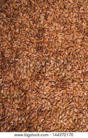 Brown flax seeds ingredient cooking medicinal food