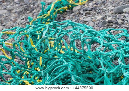 Fishing Nets On A Beach