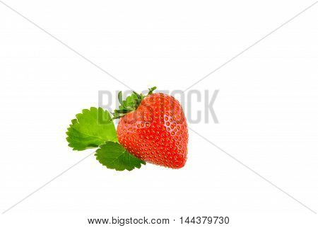 Fresh Red Strawberry on a white background