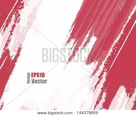 Red grungy vector background. Elements for design. Hand drawn ink blotchs. Eps10
