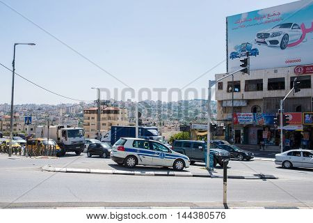 BETHLEHEM, PALESTINE - JUNE 2, 2015: The streets of the old city of Bethlehem