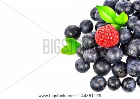 Mix berry and on a white background