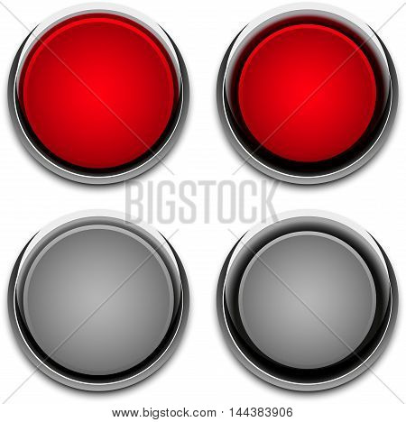 button chrome / button chrome abstract vector illustration eps 10