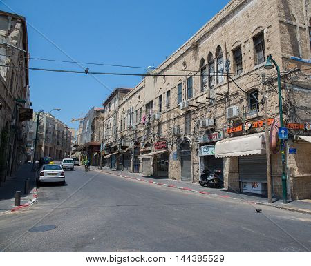 TEL AVIV, ISRAEL - JUNE 5, 2015: Jaffa - the historical city of the Middle East, which today lies within Tel Aviv. June 5, 2015. Tel Aviv, Israel.