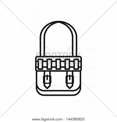 Hunting bag icon in outline style on a white background