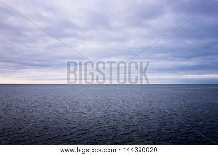 view of the Straits of Oresund winter