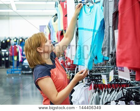 Woman Chooses Sportwear For Fitness