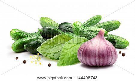 Garlic Dill Basil Pickles, Clipping Paths
