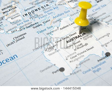 This is an image of Australia map.