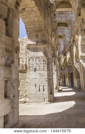 Old Walls At  Arena In Arles