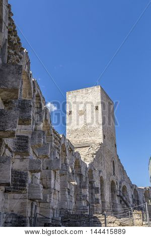 Walls Of  Famous Arena In Arles