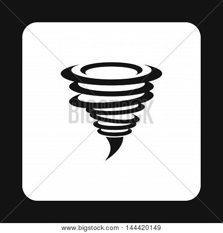 Hurricane icon in simple style isolated on white background. Weather symbol