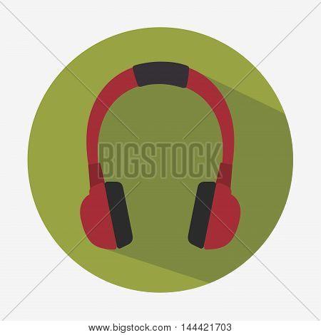 headset hearphones sound icon vector illustration graphic