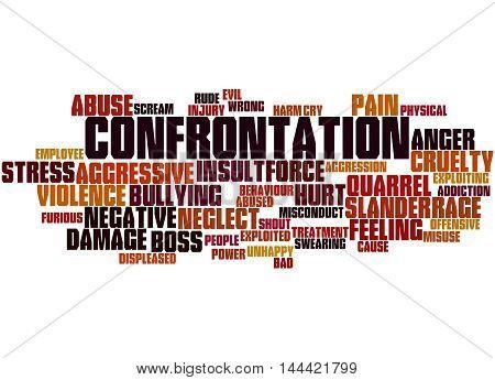Confrontation, Word Cloud Concept 3