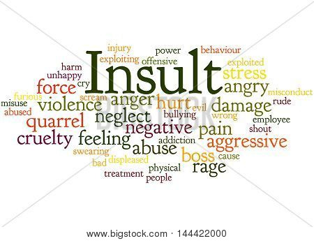 Insult, Word Cloud Concept 7