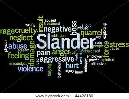Slander, Word Cloud Concept 7