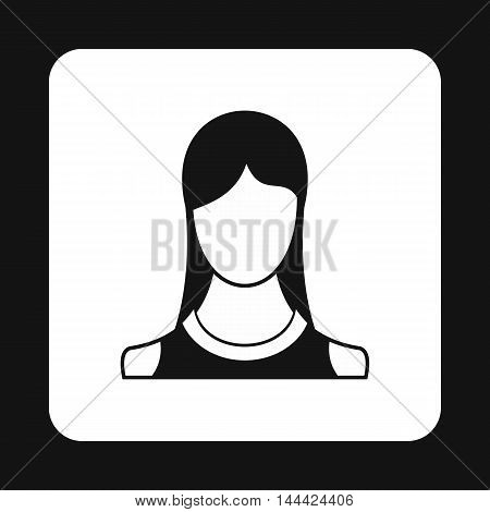 Young girl avatar icon in simple style isolated on white background. People symbol