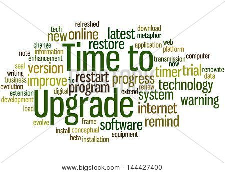 Time To Upgrade, Word Cloud Concept 6