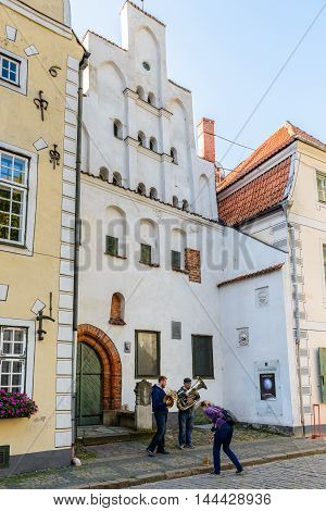 RIGA, LATVIA - SEP 7, 2014:  Old Town of Riga. Riga's historical centre is a UNESCO World Heritage Site