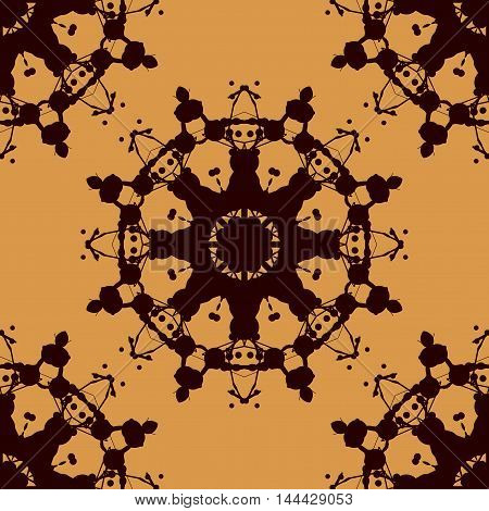 Rorschach inkblot test vector seamless. Abstract blob pattern. For fabric, wallpaper, print, wraping paper.