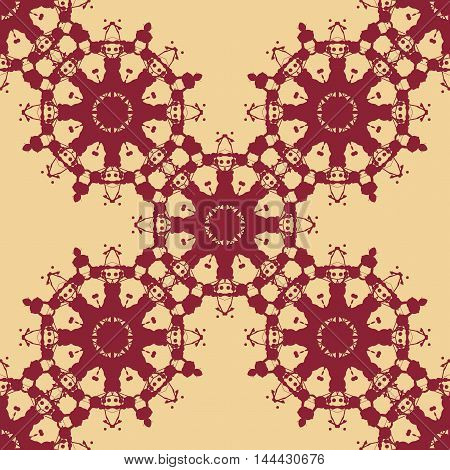 Seamless Symmetry Print Based on Rorschach inkblot test. Abstract seamless pattern. For textile fabric, wallpaper, print, warping paper.