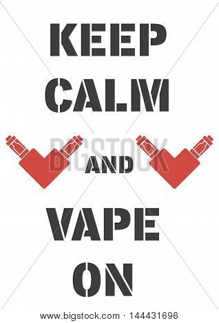 Poster With Electrons Cigarettes