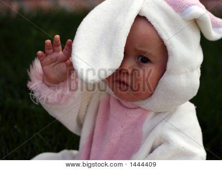 Baby Easter Bunny Waving