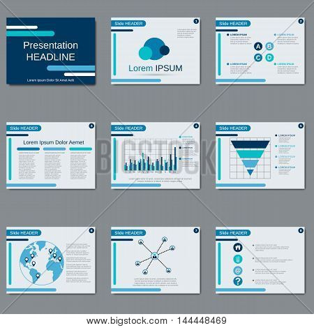 Business presentation, slide show, brochure, booklet, flyer, layout, poster vector design template