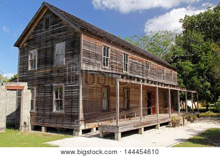 Founders Home in the Koreshan State Historic Site in the city of Estero, Florida