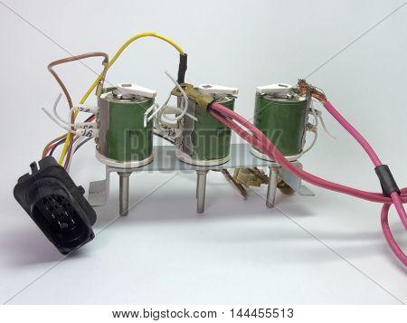 Block of the ceramic resistors and plugs