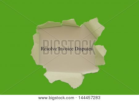 Resolve invoice disputes written under torn paper.
