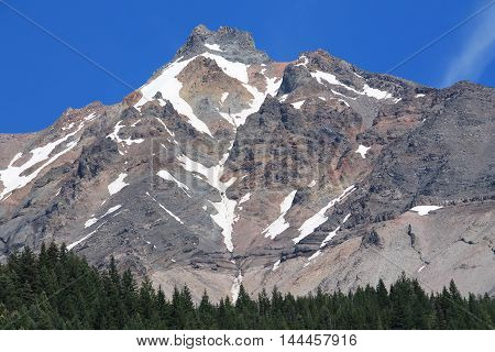 Mt. Jefferson as photographed from the shores of Lake Pamelia