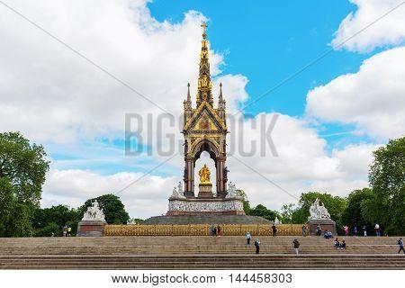 Albert Memorial At Kensington Garden In London, Uk