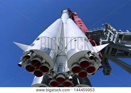 The rocket Vostok on the launch pad