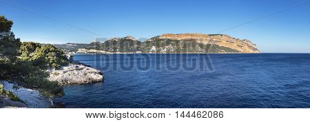 Panorama of Calanques Cassis in South France Provence