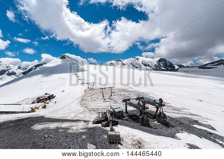Ski Station In High Alps