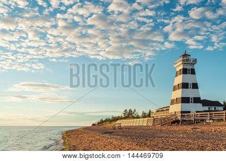 Cedar Dunes Provincial Park's Lighthouse (Cedar Dunes Provincial Park Prince Edward Island Canada)