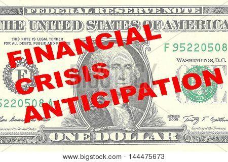 Financial Crisis Anticipation Concept