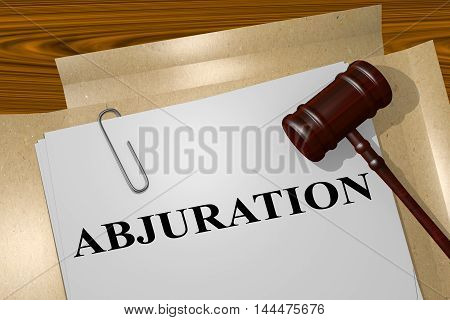 Abjuration - Legal Concept