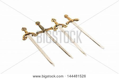 Swords  sabre, blade,  on a white background