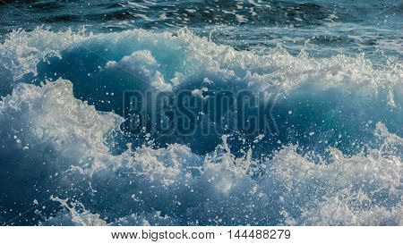an image of water waves. a beautiful and detailed picture. the vast ocean