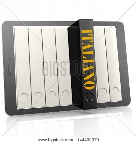 Book And Tablet Learn Italiano